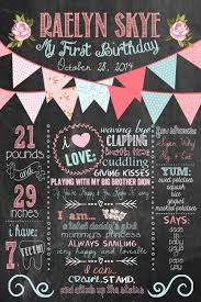 pink and turquoise shabby chic chalkboard girly 1st birthday