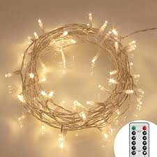 amazon battery operated lights remote and timer 40 led outdoor fairy lights 8 modes battery