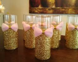 quinceanera centerpiece 10 pink and gold baby shower wedding centerpiece bridal shower