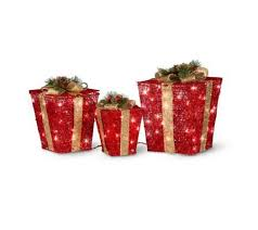 pre lit christmas gift boxes set of 3 pre lit lighted christmas gift boxes presents outdoor