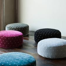 Cushion Ottoman Silk Velvet Embroidered Pouf And Luxury Baby Cribs In Baby