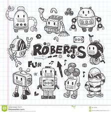doodle sign up set of doodle robot icons illustrator line tools from