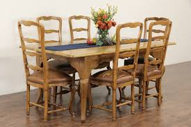 Antique Dining Room Sets Sold Country French Salvage Pine Carved Farmhouse Vintage Dining