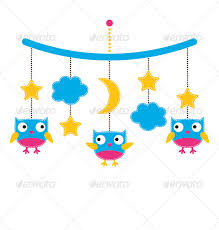 baby arrival or shower card crib mobile with owls by lattesmile