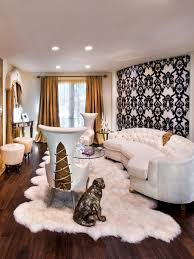 White Bedroom With Gold Accents Photos Charles Neal Hgtv