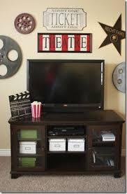 Media Room Decor Red U0026 White Popcorn Box Wall Plaque Theater Rooms Popcorn And