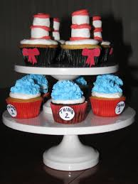 dr seuss cupcakes dr seuss cat in the hat cupcakes cakecentral