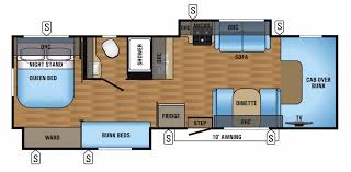Jayco Travel Trailers Floor Plans by Jayco Greyhawk Rvs For Sale Camping World Rv Sales