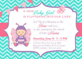 inspire butterfly baby shower invitations card butterfly baby