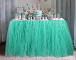 Mint Green Table Cloths Tulle Table Skirt Etsy