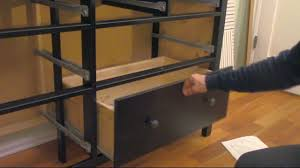 Ikea Kullen Dresser 3 Drawer by How To Assemble An Ikea Dresser Part 3 Of 3 Drawers Youtube