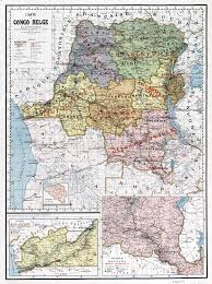 Republic Of Congo Map Large Scale Old Political And Administrative Map Of Congo