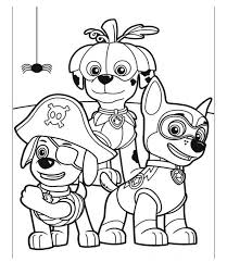 paw patrol on halloween coloring pages aveon pinterest paw