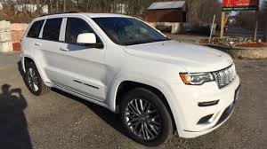 jeep white cherokee 2018 jeep grand cherokee summit platinum in bright white clearcoat