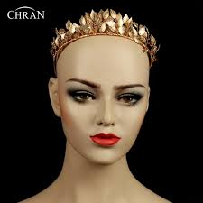 goddess headband chran goddess leaf crown baroque gold color crown
