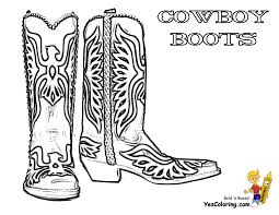 cowboy boots and hat coloring pages