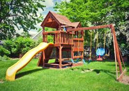 Kids Backyard Play Set by How To Waste 2 000 On Your Kids With A Backyard Playset U2013 Scary Mommy