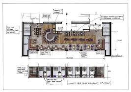 Cafe Floor Plan by Interior Restaurant Floor Plan With Bar Within Pleasant