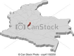 colombia map vector map colombia bogota 3d illustration map of colombia as