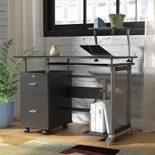 Computer Desk Cabinets Hideaway Latitude Run Offerman Computer Desk U0026 Reviews Wayfair