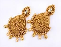 real gold earrings earrings real gold designer earring online shopping india