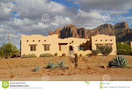 adobe style home usa arizona adobe house in a desert stock image image 27277269