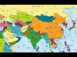 map of asia countries and cities asia continent countries capitals currency with code upsc