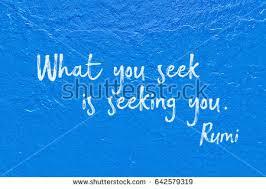 Is Seeking What You Seek Seeking You Ancient Stock Photo 642579319