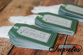 luggage tag save the date green luggage tag save the dates to hacienda club empire