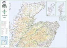 Quick Maps Road Map 1 Northern Scotland Orkney U0026 Shetland