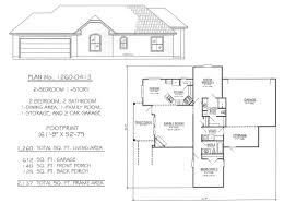 Single Family House Plans by 2 Bedrooms Single Lot
