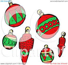 cartoon of christmas bauble ornaments royalty free vector