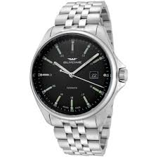 20 Classic Black And White Glycine Combat 6 Classic Black Dial Automatic Men U0027s Steel Watch