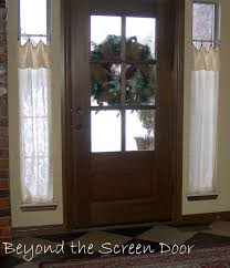Curtains For Front Door Window Solution For The Windows Beside The Front Door The Casual
