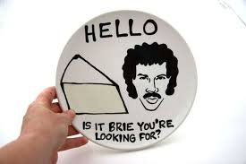 lionel richie cheese plate can o snake bye bye pie