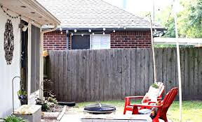 post to hang string lights post to hang string lights patio lights back yard image livepost co