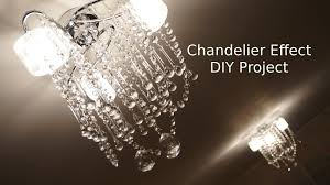 how to glass chandelier effect ceiling light makeover diy project