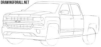How To Draw A Bed How To Draw A Chevy Silverado Drawingforall Net