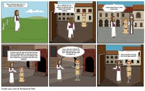 Jesus Healed The Blind Man Jesus Heals A Blind Man Storyboard By Pingu1915