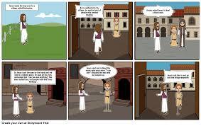 Blind Man At Bethsaida Jesus Heals A Blind Man Storyboard By Pingu1915