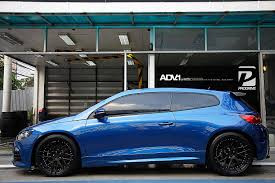 volkswagen scirocco r 2016 vw scirocco adv8 m v2 sl wheels in matte black adv 1 wheels