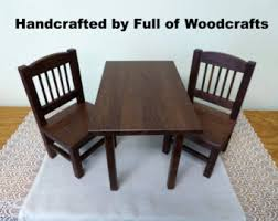 american doll wood table and chairs set oak ag table