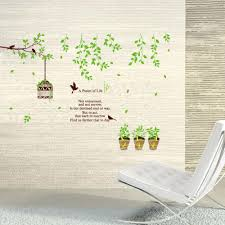 pastoral life wall art mural decor a psalm of life wall quote pastoral life wall art mural decor a psalm of life wall quote decal sticker green tree branch birds birdcage planter wallpaper decoration wall sayings wall