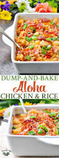 Baked Chicken Breast Dinner Ideas Dump And Bake Aloha Chicken And Rice The Seasoned Mom