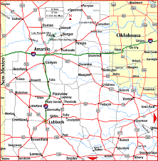 map tx highway map of panhandle aaccessmaps com