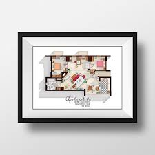 tv show apartment floor plans amazon com how i met your mother apartment famous tv show floor