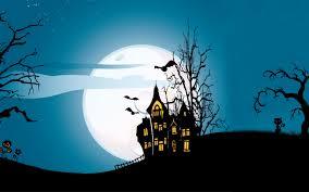 wallpaper scary house full moon bats hd celebrations