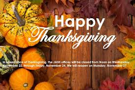 office closed in observance of thanksgiving japan america