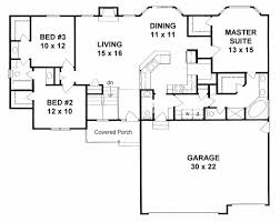 Floor Plan Of White House First Floor Plan Of Ranch Traditional House Plan 62627 The