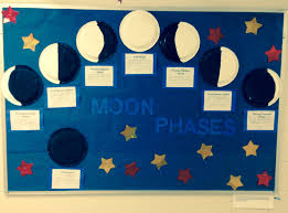 my moon phases bulletin board diy pinterest moon phases